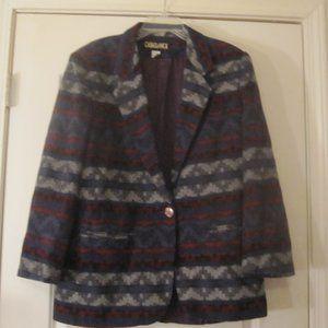Casablanca Womens Southwestern Multi-color Coat 10